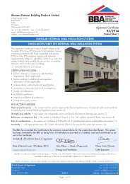 Alumasc Exterior Building Products Limited. Swisslab external wall insulation systems. Swisslab EPS/Grey EPS external wall insulation system. Product sheet 1