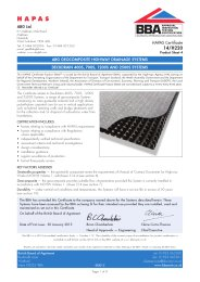 ABG Ltd. ABG geocomposite highway drainage systems. Deckdrain 400S, 700S, 1200S and 2500S systems. Product sheet 4