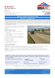 Hitex Traffic Safety Ltd. Hitex high-friction surfacing system. Hitex Type 1 thermoplastic. Product sheet 1. 3rd issue