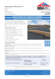 Alumasc Exterior Building Products Ltd. Alumasc euroroof roof waterproofing membranes. Euroroof mono roof waterproofing membrane. Product sheet 1
