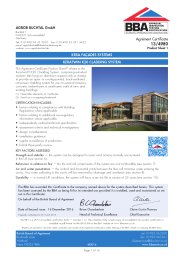 Agrob Buchtal GmbH. Kera facades systems. KeraTwin K20 cladding system. Product sheet 1