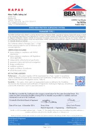 Hitex Traffic Safety Ltd. Hitex high-friction surfacing system. Pumagrip type 1. Product sheet 1
