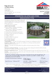 Briggs Amasco Ltd t/a Hyflex Roofing. Hyflex roofing cold applied liquid systems. Exemplar roofing system. Product sheet 1