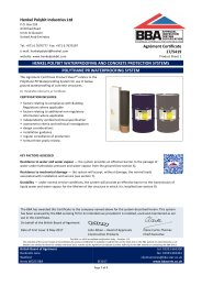 Henkel Polybit Industries Ltd. Henkel Polybit waterproofing and concrete protection systems. Polythane PR waterproofing system. Product sheet 1