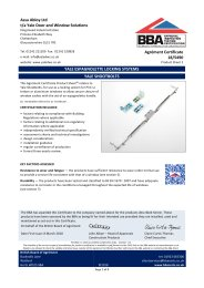 Assa Abloy Ltd t/a Yale Door and Window Solutions. Yale espagnolette locking systems. Yale shootbolts. Product sheet 2