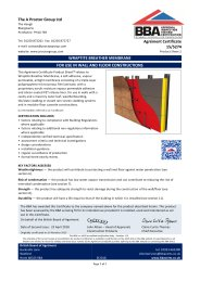A Proctor Group Ltd. Wraptite breather membrane. For use in wall and floor constructions. Product sheet 2