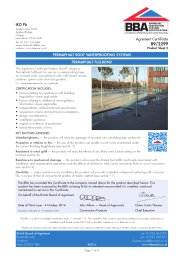 IKO PLC. Permaphalt roof waterproofing systems. Permaphalt fullbond. Product sheet 2