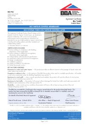 IKO PLC. IKO vapour control membranes. IKO systems torch-on vapour control layer. Product sheet 1