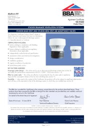 Akatherm BV. Studor drainage ventilation systems. Studor Maxi-Vent and Studor Mini-Vent air admittance valves. Product sheet 1