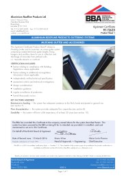Aluminium Roofline Products Ltd. Aluminium Roofline Products guttering systems. Mustang gutter and accessories. Product sheet 1