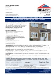 Anglian Windows Limited. Enhanced security to PAS 24 for Product sheet 1. Anglian White Knight outward opening system.