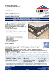British Polythene Limited t/a Visqueen Building Products. Zedex high performance damp-proofing system. Zedex CPT high performance damp-proof course. Product sheet 1