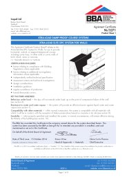 Icopal Ltd. Xtra-load damp-proof course systems. Xtra-load elite DPC system for walls. Product sheet 1