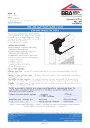 Icopal Ltd. Xtra-load damp-proof course systems. Xtra-load probuild DPC system. Product sheet 2