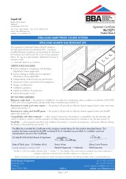 Icopal Ltd. Xtra-load damp-proof course systems. Xtra-load Alumite gas resistant DPC. Product sheet 4