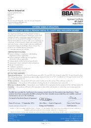 Hytherm (Ireland) Ltd. Hytherm Warm-R insulation. Warm-R and Warm-R partial fill cavity wall insulation boards. Product sheet 3