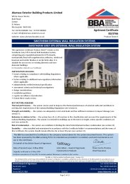 Alumasc Exterior Building Products Limited. Swistherm external wall insulation systems. Swistherm grey EPS external wall insulation system. Product sheet 3