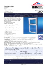 Indigo Products Limited. Epwin FRW PVC-U window systems. Spectus Elite 70 outward opening and tilt and turn systems. Product sheet 1