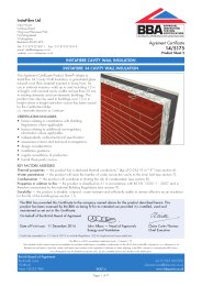 InstaFibre Ltd. InstaFibre cavity wall insulation. InstaFibre 34 cavity wall insulation. Product sheet 2