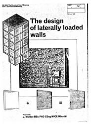 Design of laterally loaded walls