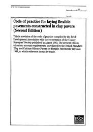 Code of practice for laying flexible pavements constructed in clay pavers. 2nd edition