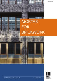 Mortar for brickwork