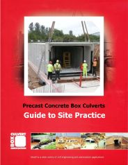 Precast concrete box culverts: guide to site practice (Withdrawn)