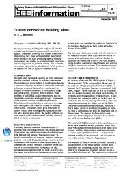 Quality control on building sites