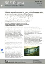 Shrinkage of natural aggregates in concrete