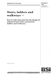 Stairs, ladders and walkways. Code of practice for the design of industrial type stairs, permanent ladders and walkways (AMD 14247) (No longer current but cited in Building Regulations)