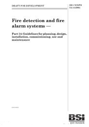Fire detection and fire alarm systems. Guidelines for planning, design, installation, commissioning, use and maintenance