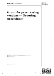 Grout for prestressing tendons - grouting procedures