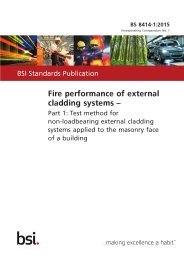 Fire performance of external cladding systems. Test method for non-loadbearing external cladding systems applied to the masonry face of a building (Incorporating corrigendum No. 1)