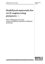 Stabilized materials for civil engineering purposes. Methods of test for cement-stabilized and lime-stabilized materials