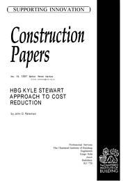 HBG KYLE Steward approach to cost reduction