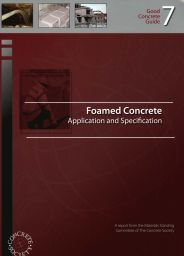Foamed concrete: application and specification