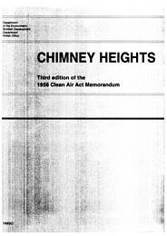 Chimney heights. Third edition of the 1956 Clean Air Act memorandum