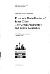 Economic revitalisation of inner cities: the urban programme and ethnic minorities