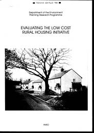 Evaluating the low cost rural housing initiative
