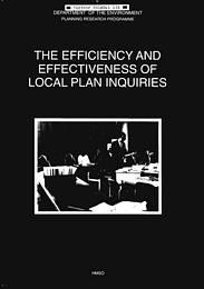 Efficiency and effectiveness of local plan inquiries