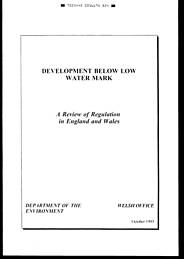 Development below low water mark: a review of regulation in England and Wales