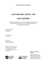 Countryside survey 1990: main report