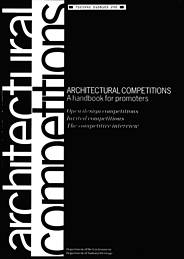 Architectural competitions: a handbook for promoters