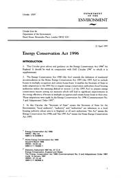 Energy conservation act 1996