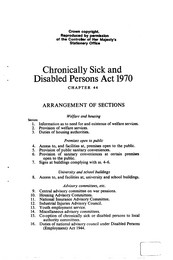 Chronically sick and disabled persons act 1970