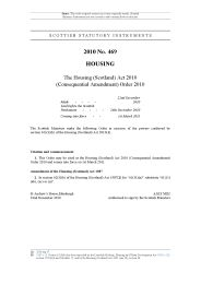 Housing (Scotland) act 2010 (consequential amendment) order 2010