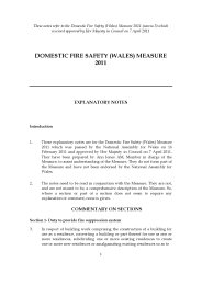 Explanatory notes to the Domestic fire safety (Wales) measure 2011. (nawm. 3)