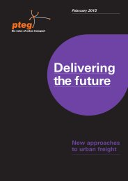 Delivering the future - new approaches to urban freight