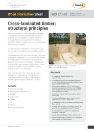 Cross-laminated timber - structural principles