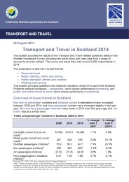 Transport and travel in Scotland 2014